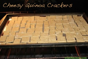 Cheesy Quinoa Crackers Recipe