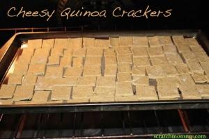 Cheesy Quinoa Crackers Recipe