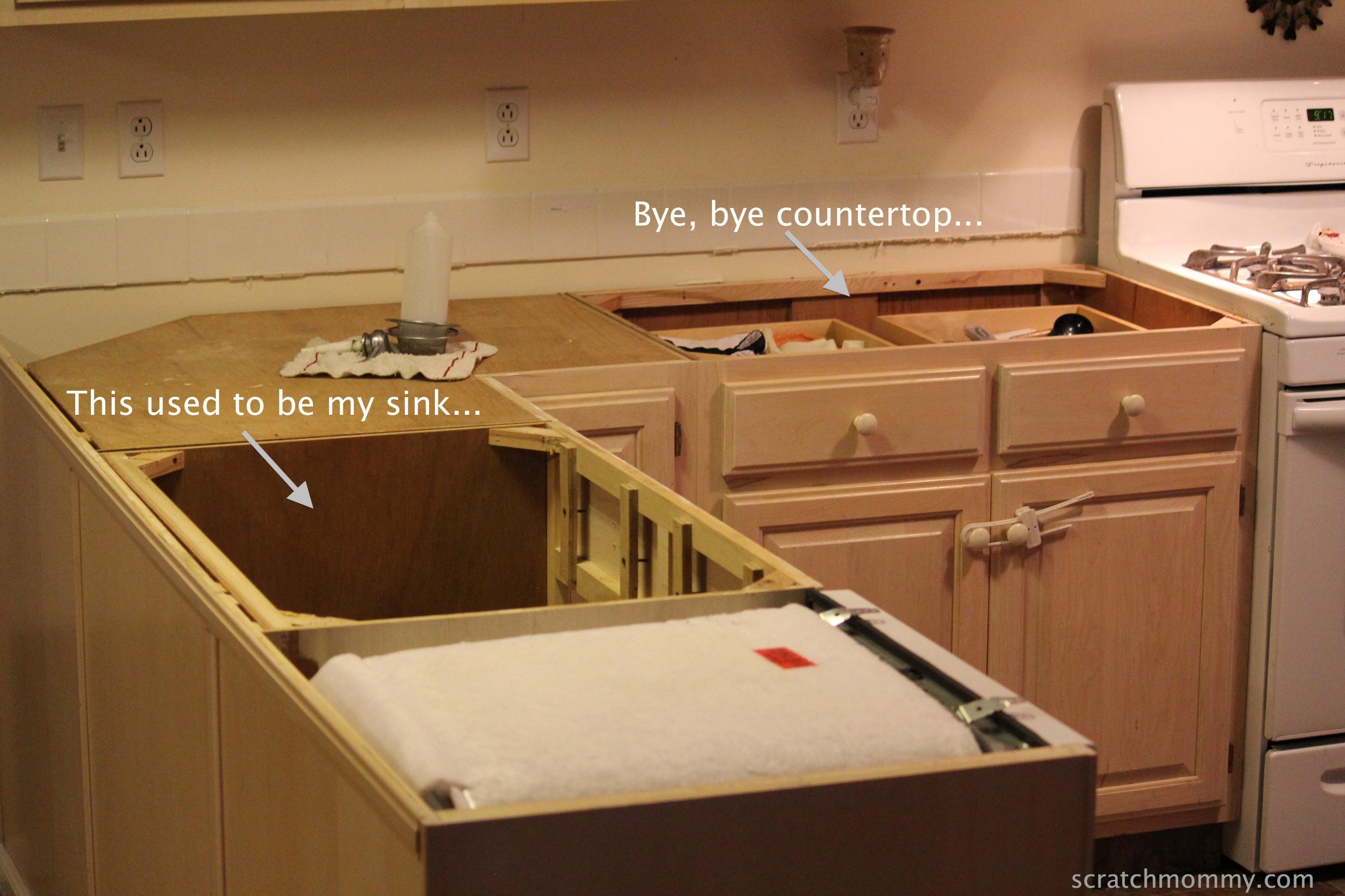 Homemade Kitchen Homemade Countertops