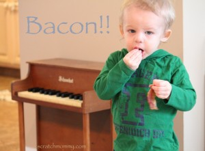 His love for bacon comes honestly!