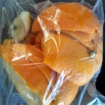 Just a bag of orange peels!