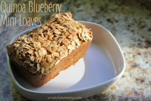 Quinoa Blueberry Bread - Quinoa Blueberry Mini Loaves - Delicious & Nutritious!