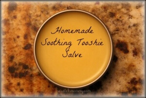 DIY Soothing Tooshie Salve Recipe (for your baby's bottom AND your worn elbows & feet)