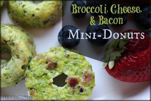 Broccoli, Bacon, and Cheese Mini Donuts Recipe!