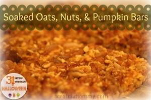 Soaked Oats, Nuts, and Pumpkin Bars!