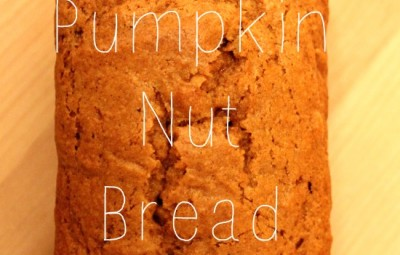 The recipe for the BEST pumpkin nut bread ever. Whoooop!