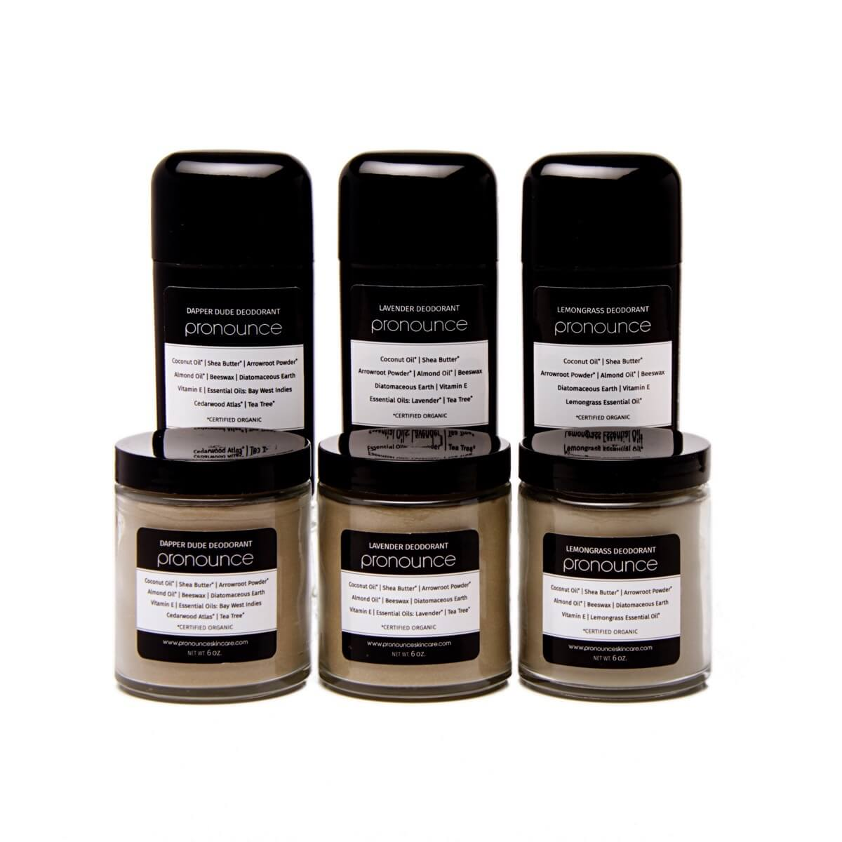Original Recipe Deodorants (3 scents) - Pronounce Skincare 1200 x 1200