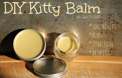 DIY Kitty Balm - Great For Sore Muscles