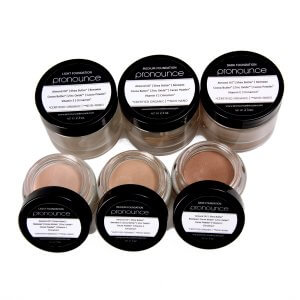 Facial Foundation (3 shades lid off) - Pronounce Skincare 1200 x 1200