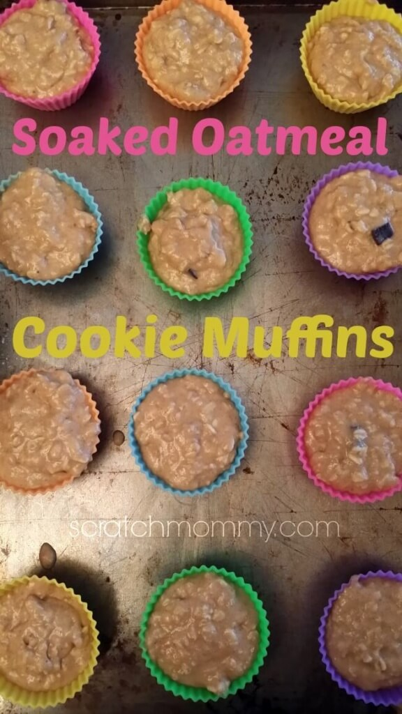 Soaked Oatmeal Cookie Muffin Recipe (& new baking cups AND a giveaway)