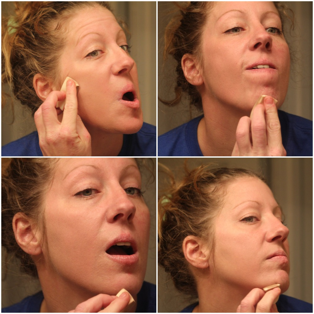 Applying Foundation Only To One Side Of My Face - DIY Smooth Finish Foundation - By Scratch Mommy