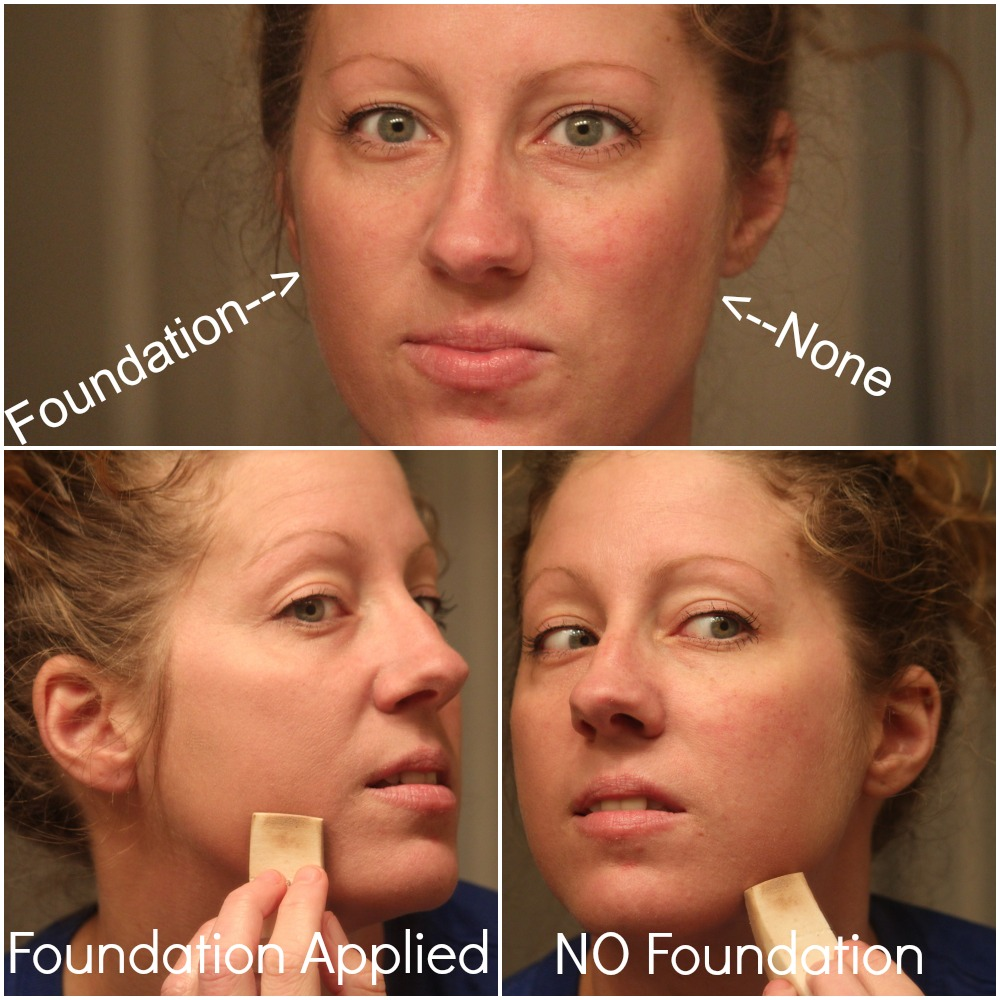 Foundation Only On One Side Of My Face (Inside Pics) - By Scratch Mommy