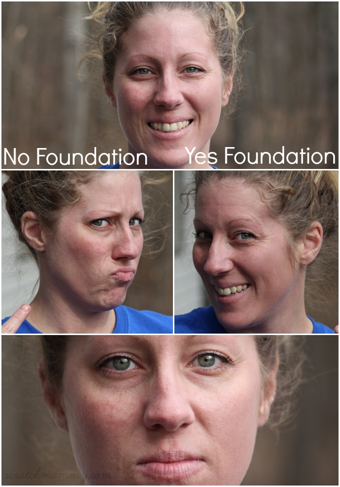 Outside Foundation On Only One Side - Smooth Finish DIY Foundation With Sunscreen- By Scratch Mommy