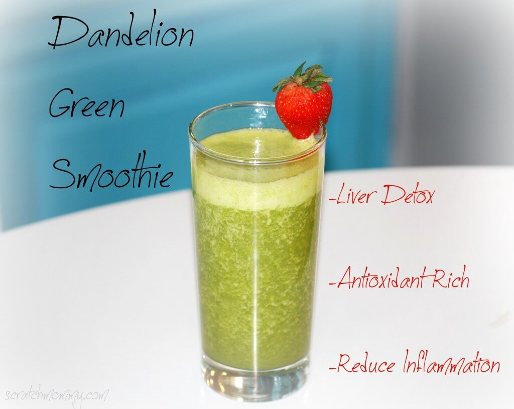 Dandelion Smoothie - Liver Detox, Antioxidant Rich, Reduce Inflammation, Support Your Kidney Health! Kidneys are very important!