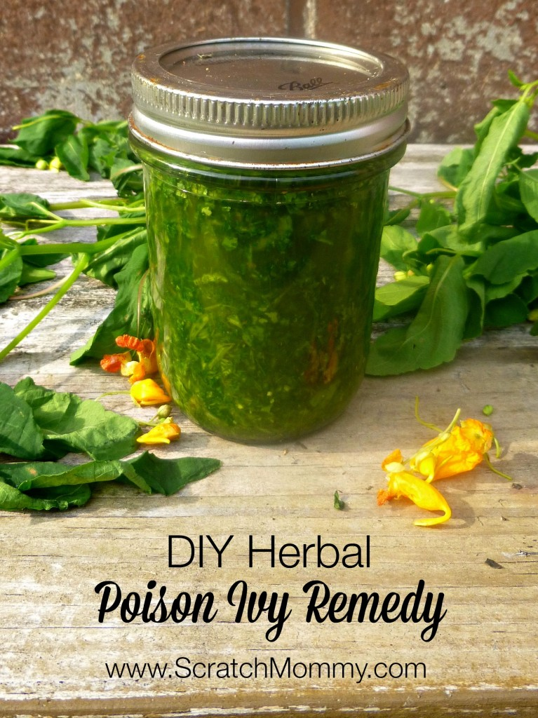Need a natural remedy for poison ivy? This herbal DIY poison ivy remedy contains healing weeds like jewelweed and plaintain, along with essential oils.