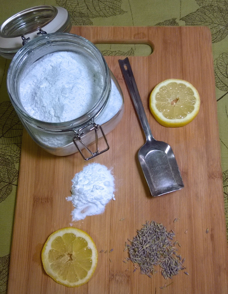 An herbal DIY scouring powder that is easy to make and super effective at cleaning!