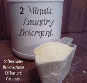 Natural laundry detergent that only takes 2 minutes to make!