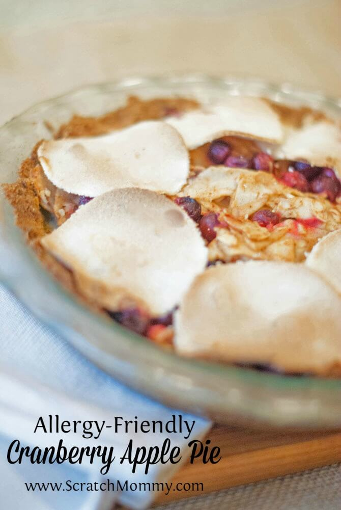 Have food allergies and miss sweets? This allergen-friendly cranberry apple pie is free of all allergen-prone foods and is absolutely delicious!