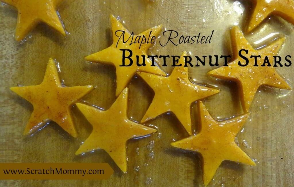 Maple Roasted Butternut Squash Stars