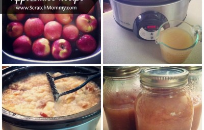 A no peeling required crockpot recipe for all those baskets of apples you have on your counter!