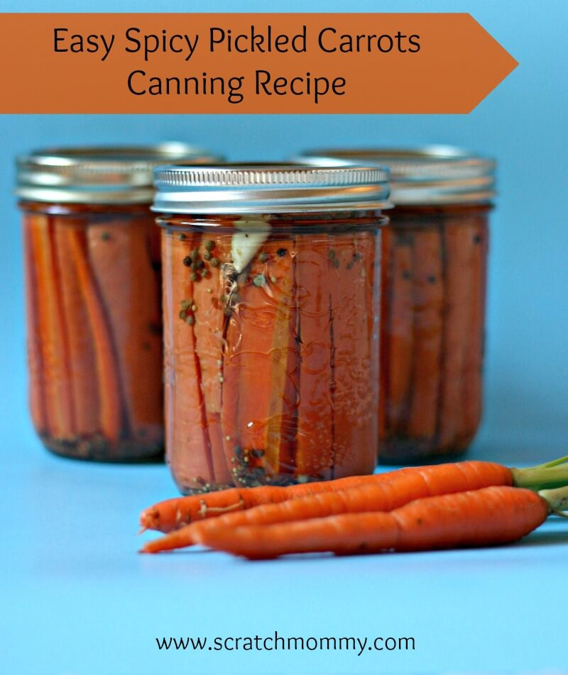 Canned Spicy Pickled Carrots Recipe can be made throughout the year since carrots are always available.