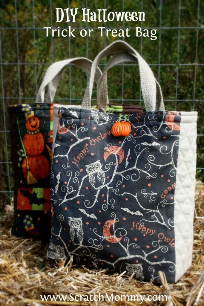 DIY Halloween Trick Or Treat Bag Sewing Project