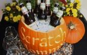 DIY Party Pumpkin Cooler. This DIY cooler would be perfect for a Halloween party. Substitute a watermelon for a fun summer cooler. 6