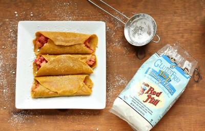 Gluten-Free Pumpkin Crepes with Warm Apple Filling 2