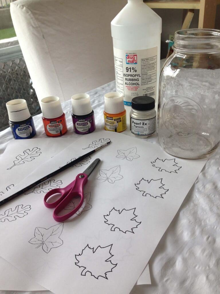 Hand Painted Mason Jar Lantern
