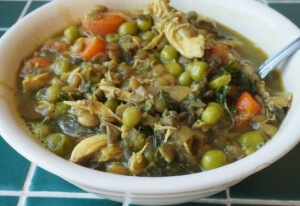 """Learn to work with what you have in the refrigerator with this """"kitchen sink"""" budget-friendly lentil stew. It's nutrient-dense and puts nothing to waste."""
