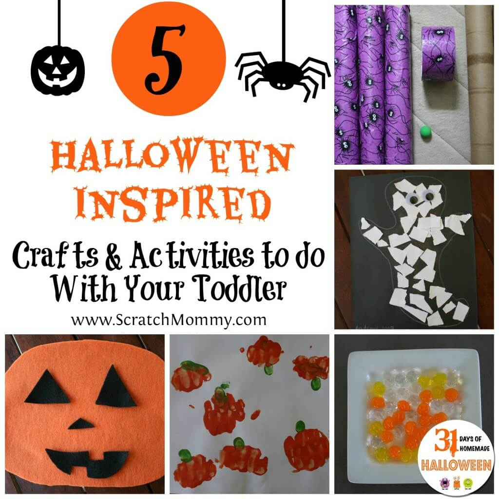 5 Halloween Inspired Crafts And Activities To Do With Your Toddler