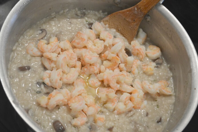 This shrimp and wild mushroom risotto is creamy, buttery, and feels as if it melts in your mouth. Try it out and you won't be disappointed!