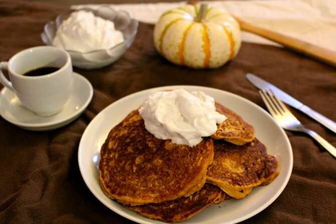 Fall-Inspired Pumpkin Pancakes