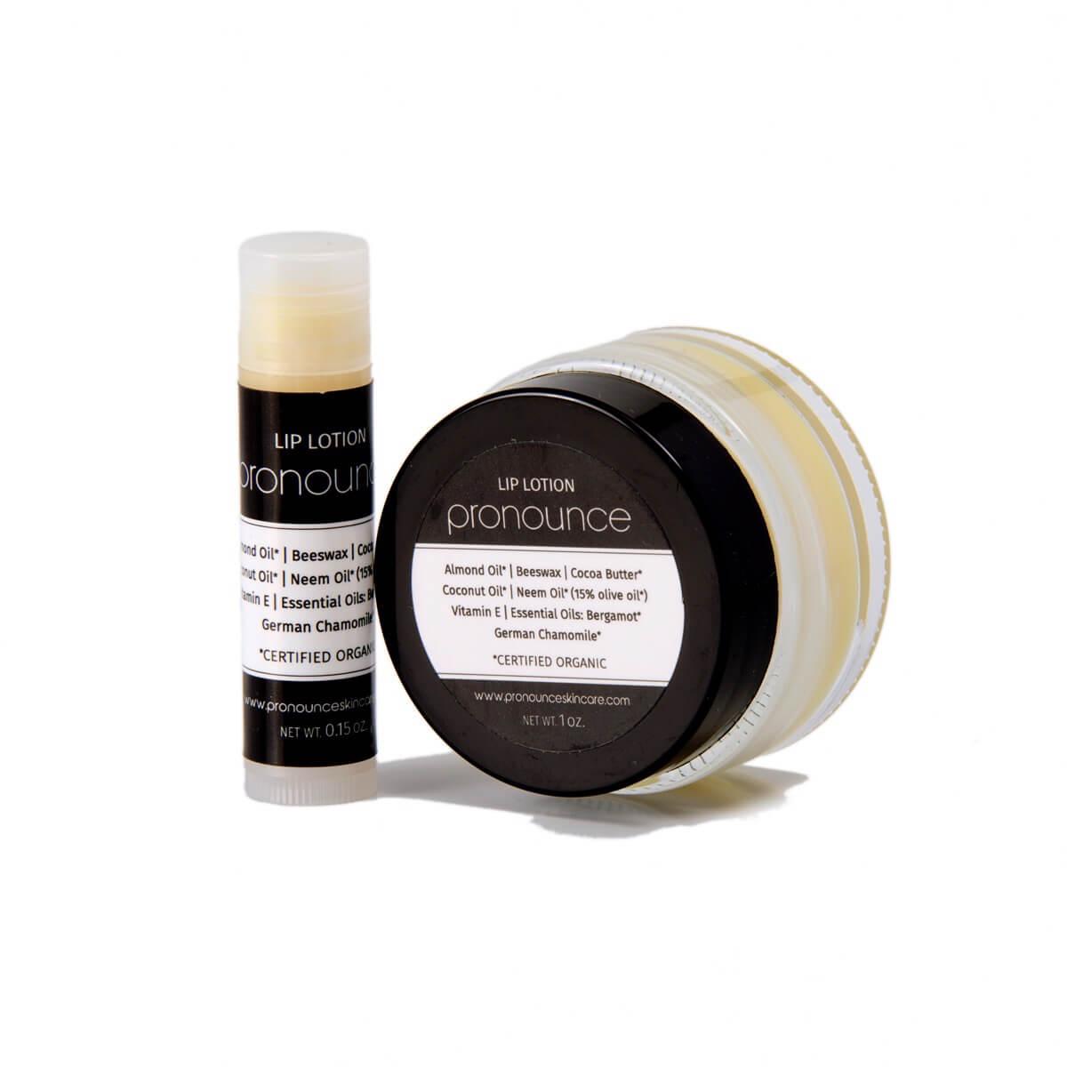 Lip Lotion (tube and jar) - Pronounce Skincare 1200 x 1200