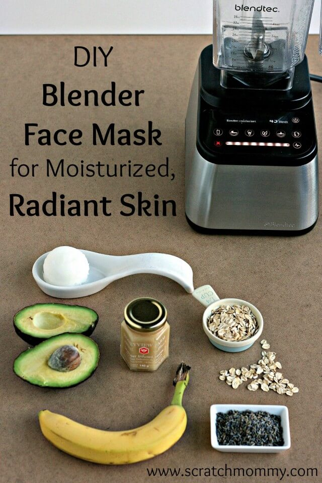 DIY Blender Face Mask for Moisturized Radiant Skin from Scratch Mommy