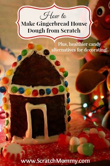 Check out this tutorial on how to make gingerbread house dough from scratch plus some healthier alternatives to decorating your house with.