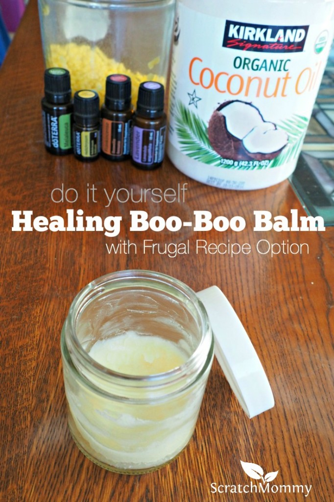 This DIY healing boo-boo balm is simple and easy to make. On a tight budget? There's a frugal recipe option so you can still enjoy a homemade non-toxic balm.