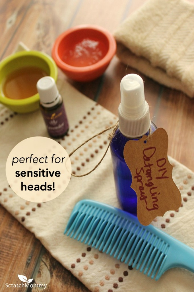This DIY detangling spray has greatly reduced the drama surrounding our morning get-ready routine with my sensitive-headed little girl. Plus it's free of toxins!