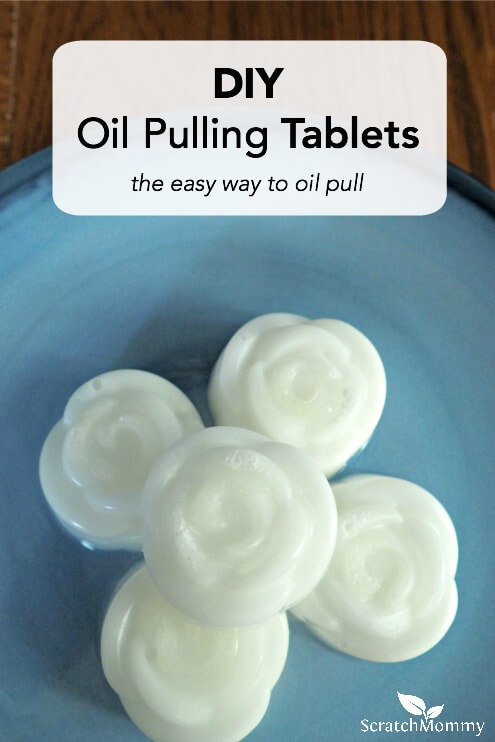 Oil pulling doesn't have to be messy any more! With these DIY oil pulling tablets, oil pulling has never been easier to do each morning. Learn how to make them here!