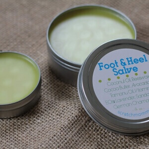 Scratch Mommy Healing Foot and Heel Salve, For Dry, Cracked Feet & Heels