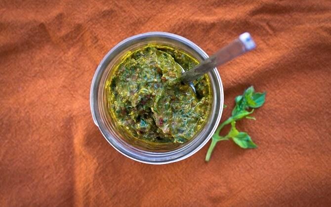 Lemon Basil Pesto Recipe