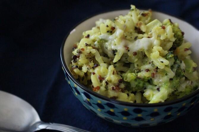 Broccoli Quinoa Rice Casserole Recipe