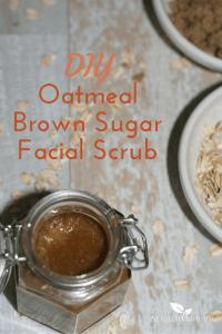 DIY Oatmeal Brown Sugar Facial Scrub