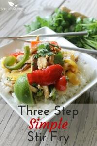 Three Step Simple Stir Fry Recipe