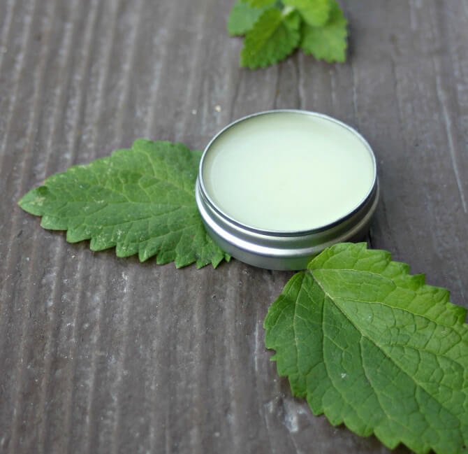 DIY Lemon Balm Lip Cream