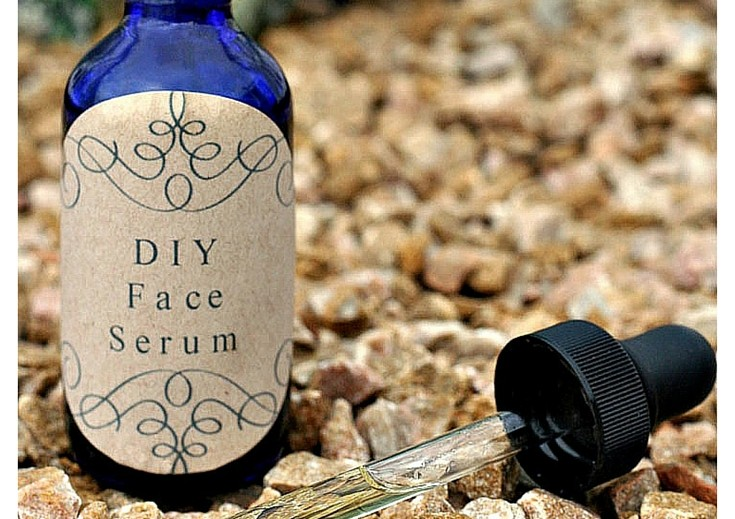 DIY Face Serum for Aging Skin featured on Scratch Mommy