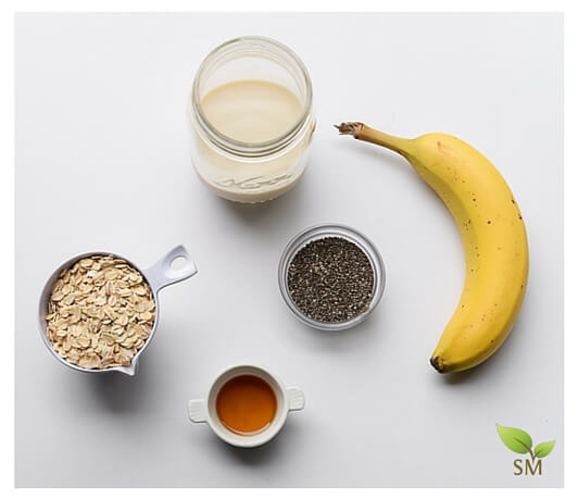 Easy Overnight Oats Recipe Ingredients - Scratch Mommy