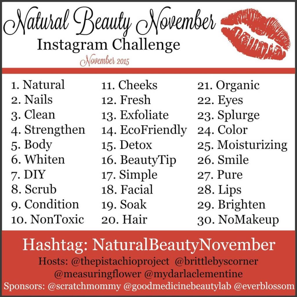 Natural Beauty November – Instagram Challenge!