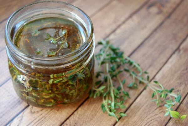 Beautiful Thyme Infused Honey - Great natural remedy for coughs and even delicious in tea (and super easy to make)!