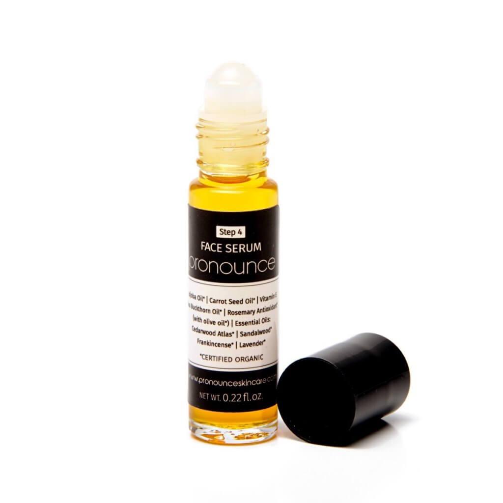 Face Serum - Pronounce Skincare (lid off) 1200 x 1200
